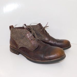Men's leather tweed Ugg Chukka boots